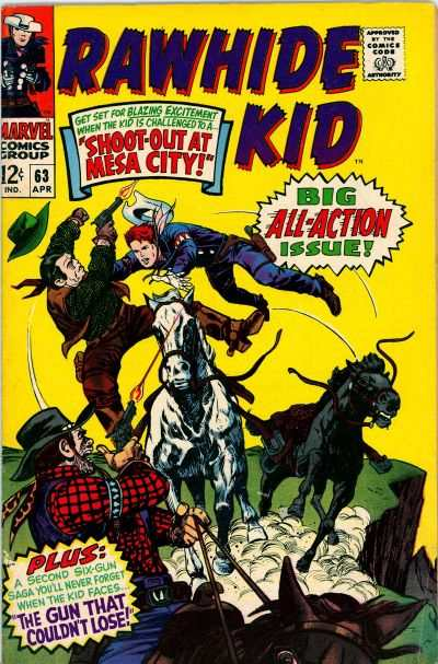 Rawhide Kid #63 Comic Books - Covers, Scans, Photos  in Rawhide Kid Comic Books - Covers, Scans, Gallery