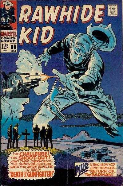 Rawhide Kid #66 Comic Books - Covers, Scans, Photos  in Rawhide Kid Comic Books - Covers, Scans, Gallery