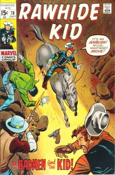 Rawhide Kid #78 comic books - cover scans photos Rawhide Kid #78 comic books - covers, picture gallery
