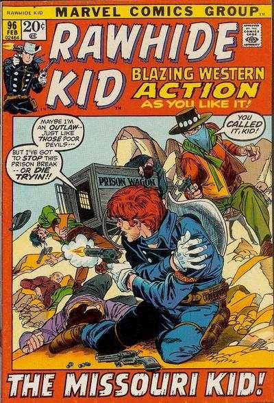 Rawhide Kid #96 comic books - cover scans photos Rawhide Kid #96 comic books - covers, picture gallery