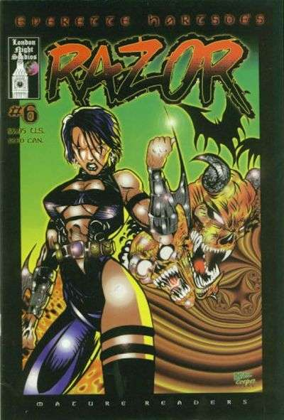 Razor #6 comic books for sale