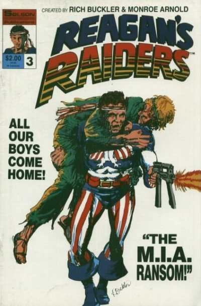 Reagan's Raiders #3 comic books - cover scans photos Reagan's Raiders #3 comic books - covers, picture gallery