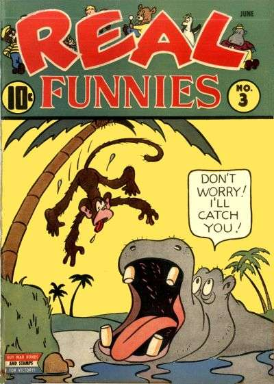 Real Funnies #3 comic books - cover scans photos Real Funnies #3 comic books - covers, picture gallery