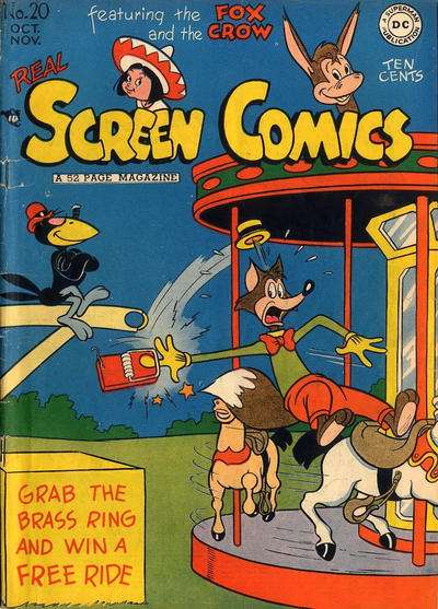 Real Screen Comics #20 comic books - cover scans photos Real Screen Comics #20 comic books - covers, picture gallery