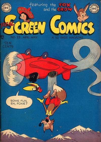 Real Screen Comics #23 comic books - cover scans photos Real Screen Comics #23 comic books - covers, picture gallery
