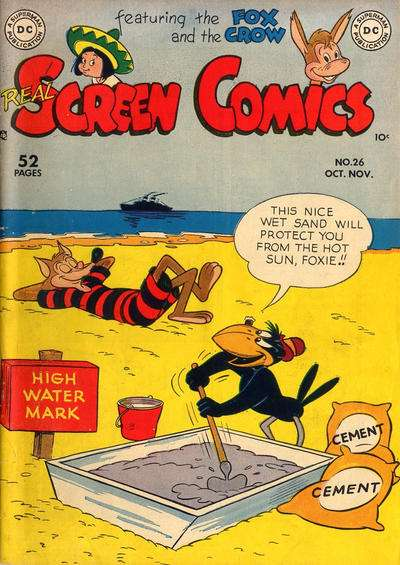 Real Screen Comics #26 comic books - cover scans photos Real Screen Comics #26 comic books - covers, picture gallery