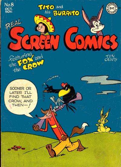 Real Screen Comics #8 comic books for sale