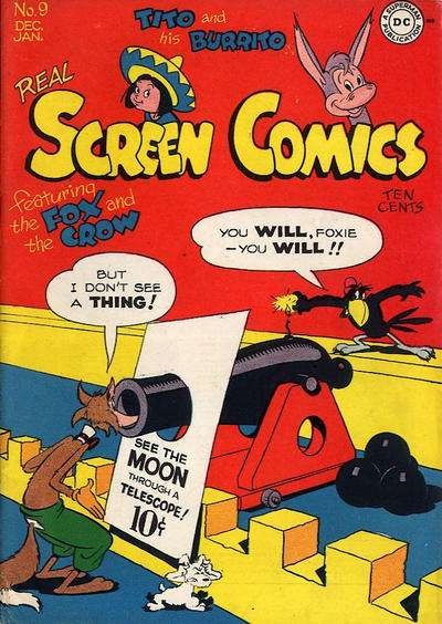 Real Screen Comics #9 comic books - cover scans photos Real Screen Comics #9 comic books - covers, picture gallery