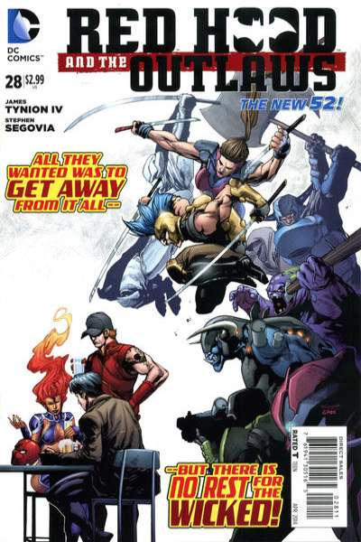 Red Hood and the Outlaws #28 comic books for sale