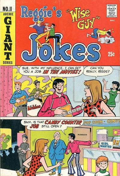 Reggie's Wise Guy Jokes #11 comic books - cover scans photos Reggie's Wise Guy Jokes #11 comic books - covers, picture gallery