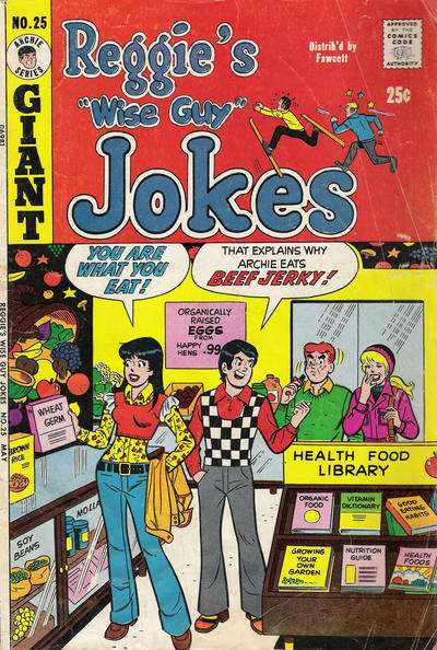 Reggie's Wise Guy Jokes #25 Comic Books - Covers, Scans, Photos  in Reggie's Wise Guy Jokes Comic Books - Covers, Scans, Gallery