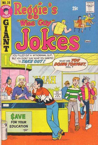 Reggie's Wise Guy Jokes #28 comic books for sale