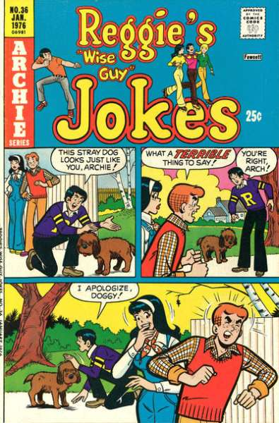 Reggie's Wise Guy Jokes #36 comic books - cover scans photos Reggie's Wise Guy Jokes #36 comic books - covers, picture gallery