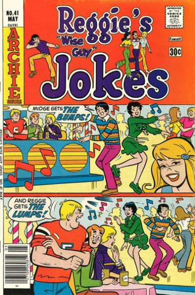 Reggie's Wise Guy Jokes #41 comic books - cover scans photos Reggie's Wise Guy Jokes #41 comic books - covers, picture gallery