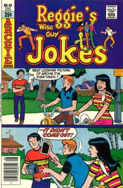 Reggie's Wise Guy Jokes #46 comic books - cover scans photos Reggie's Wise Guy Jokes #46 comic books - covers, picture gallery