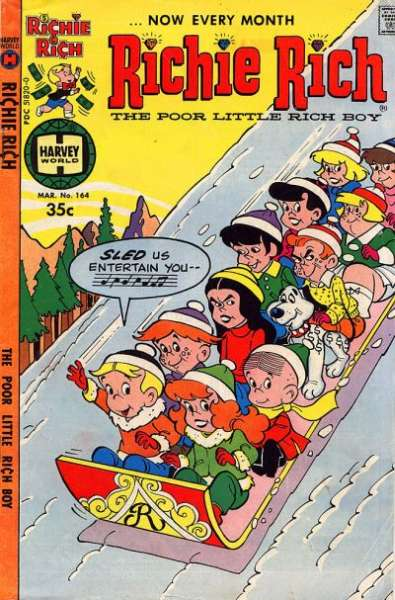 Richie Rich #164 Comic Books - Covers, Scans, Photos  in Richie Rich Comic Books - Covers, Scans, Gallery