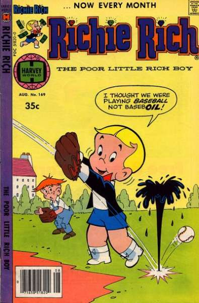 Richie Rich #169 Comic Books - Covers, Scans, Photos  in Richie Rich Comic Books - Covers, Scans, Gallery