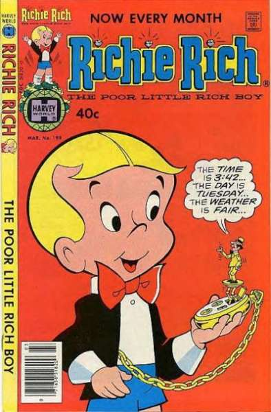 Richie Rich #188 comic books - cover scans photos Richie Rich #188 comic books - covers, picture gallery