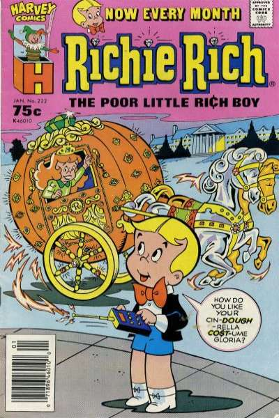 Richie Rich #222 Comic Books - Covers, Scans, Photos  in Richie Rich Comic Books - Covers, Scans, Gallery