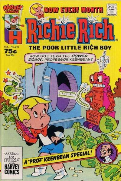 Richie Rich #223 Comic Books - Covers, Scans, Photos  in Richie Rich Comic Books - Covers, Scans, Gallery