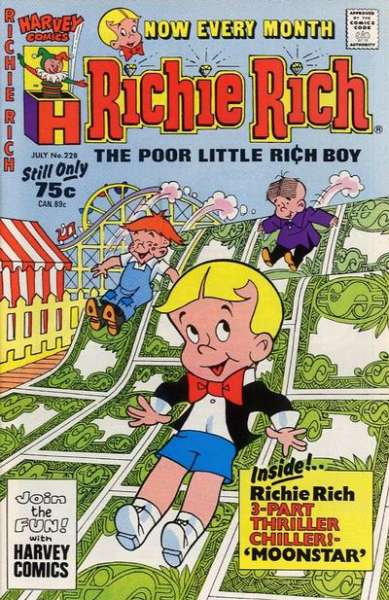 Richie Rich #228 comic books - cover scans photos Richie Rich #228 comic books - covers, picture gallery
