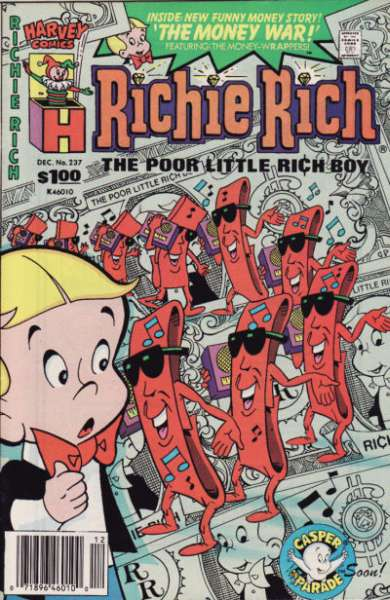 Richie Rich #237 comic books - cover scans photos Richie Rich #237 comic books - covers, picture gallery