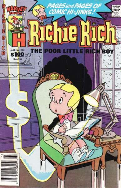 Richie Rich #238 comic books - cover scans photos Richie Rich #238 comic books - covers, picture gallery