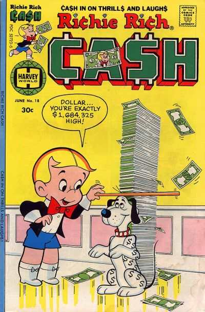 Richie Rich Cash #18 Comic Books - Covers, Scans, Photos  in Richie Rich Cash Comic Books - Covers, Scans, Gallery
