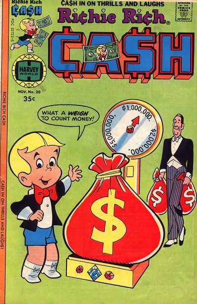 Richie Rich Cash #20 Comic Books - Covers, Scans, Photos  in Richie Rich Cash Comic Books - Covers, Scans, Gallery