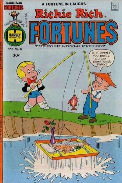 Richie Rich Fortunes #33 Comic Books - Covers, Scans, Photos  in Richie Rich Fortunes Comic Books - Covers, Scans, Gallery