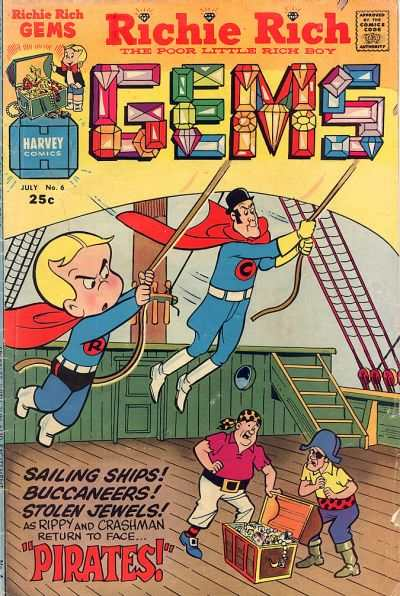 Richie Rich Gems #6 Comic Books - Covers, Scans, Photos  in Richie Rich Gems Comic Books - Covers, Scans, Gallery