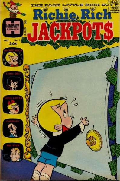 Richie Rich Jackpots Comic Books. Richie Rich Jackpots Comics.