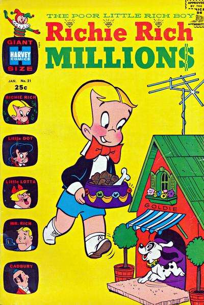 Richie Rich Millions #21 comic books - cover scans photos Richie Rich Millions #21 comic books - covers, picture gallery
