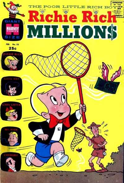 Richie Rich Millions #33 Comic Books - Covers, Scans, Photos  in Richie Rich Millions Comic Books - Covers, Scans, Gallery
