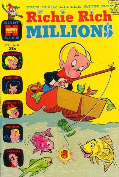Richie Rich Millions #43 Comic Books - Covers, Scans, Photos  in Richie Rich Millions Comic Books - Covers, Scans, Gallery