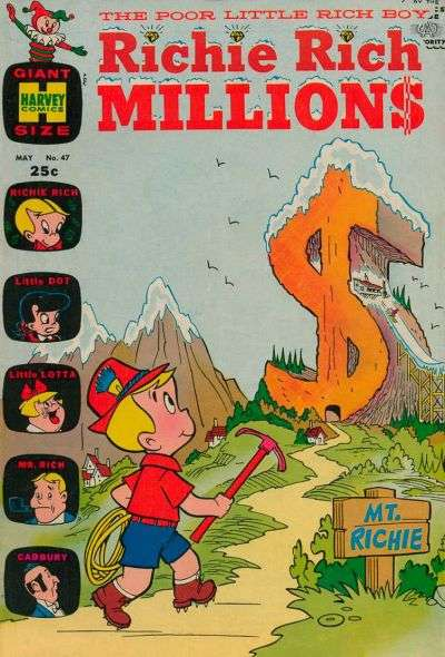 Richie Rich Millions #47 Comic Books - Covers, Scans, Photos  in Richie Rich Millions Comic Books - Covers, Scans, Gallery