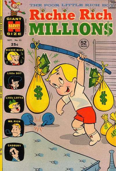 Richie Rich Millions #55 Comic Books - Covers, Scans, Photos  in Richie Rich Millions Comic Books - Covers, Scans, Gallery