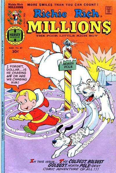 Richie Rich Millions #82 comic books - cover scans photos Richie Rich Millions #82 comic books - covers, picture gallery