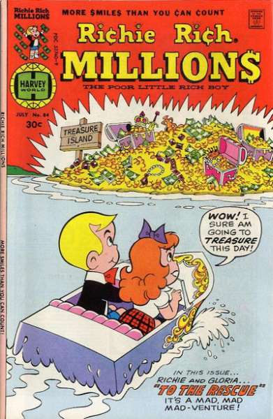 Richie Rich Millions #84 comic books - cover scans photos Richie Rich Millions #84 comic books - covers, picture gallery