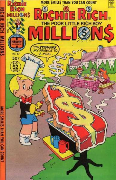 Richie Rich Millions #87 comic books - cover scans photos Richie Rich Millions #87 comic books - covers, picture gallery