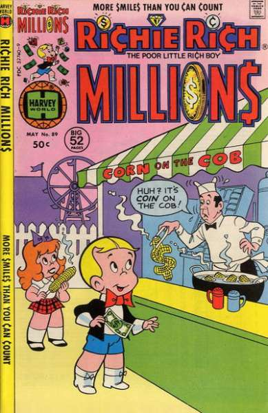 Richie Rich Millions #89 comic books - cover scans photos Richie Rich Millions #89 comic books - covers, picture gallery