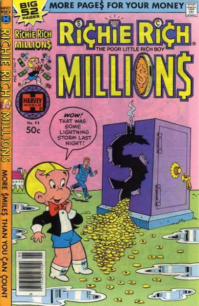 Richie Rich Millions #95 comic books - cover scans photos Richie Rich Millions #95 comic books - covers, picture gallery