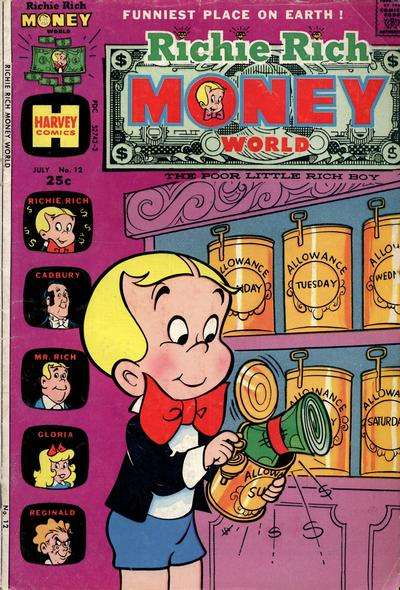 Richie Rich Money World #12 Comic Books - Covers, Scans, Photos  in Richie Rich Money World Comic Books - Covers, Scans, Gallery