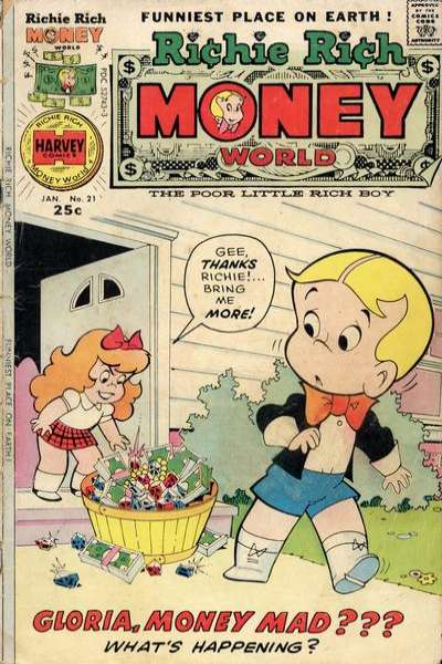 Richie Rich Money World #21 Comic Books - Covers, Scans, Photos  in Richie Rich Money World Comic Books - Covers, Scans, Gallery