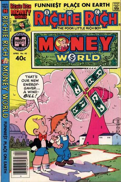 Richie Rich Money World #45 cheap bargain discounted comic books Richie Rich Money World #45 comic books