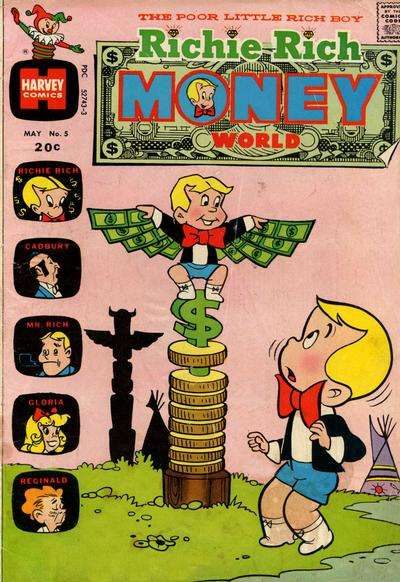 Richie Rich Money World #5 comic books for sale