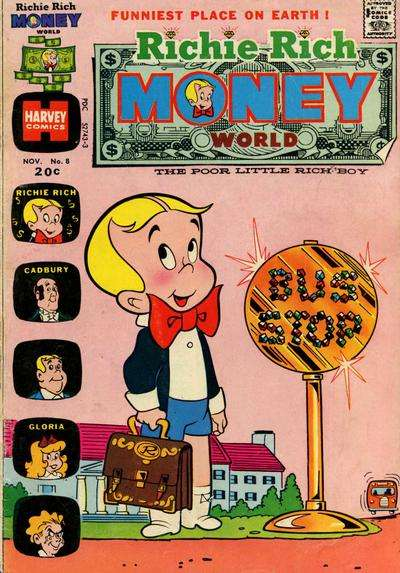 Richie Rich Money World #8 comic books for sale