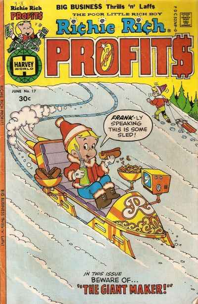 Richie Rich Profits #17 Comic Books - Covers, Scans, Photos  in Richie Rich Profits Comic Books - Covers, Scans, Gallery