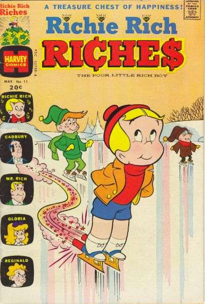 Richie Rich Riches #11 comic books - cover scans photos Richie Rich Riches #11 comic books - covers, picture gallery