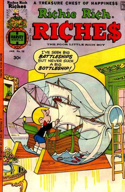 Richie Rich Riches #28 Comic Books - Covers, Scans, Photos  in Richie Rich Riches Comic Books - Covers, Scans, Gallery